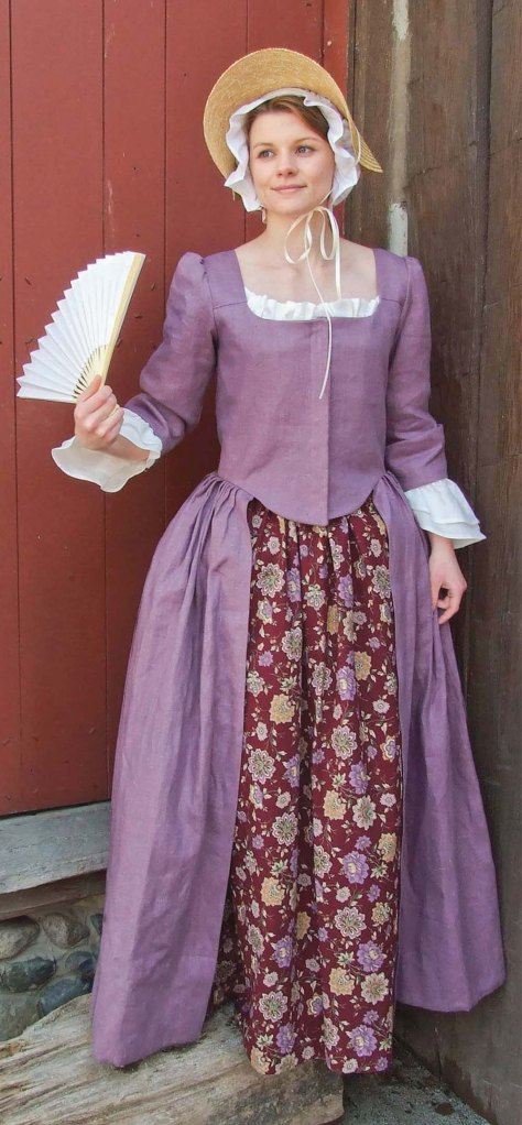 Plum Linen Gown with printed-cotton Petticoat. You can order this Linen Gown here.